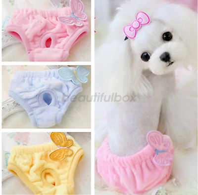 Reuseable Female Pet Dog Pants Pads Bitch Menstrual Sanitary Nappy Diaper S M L