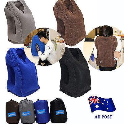 Air Filled Support Pillow Neck Cushion Airplane Comfortable Travel Inflatable IN