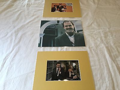 "John Cleese Fawlty Towers hand signed 8"" x 10"" photo+2 matted Unsigned 6x4 pics"
