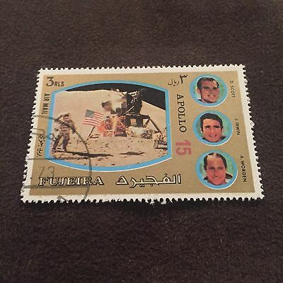 Fujeira Apollo 15 Stamp Scott Irwin Worden Space Mission