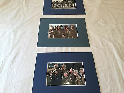 "Clive Dunn Dads Army hand signed 6"" x 4"" photo matted to 8""x10"" + 2 x Unsigned"