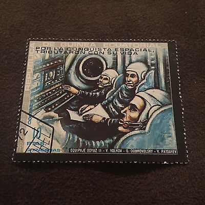 Republica De Guinea Stamp 10 PTAS Space Mission