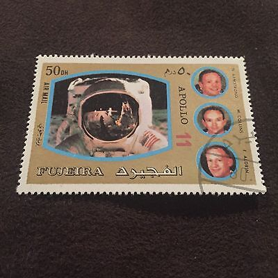Fujeira Apollo 11 Stamp Armstrong Aldrin Collins Man On The Moon