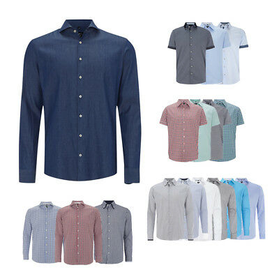 JAKE*S Herren Business Hemden Hemd Button Down Kent Tailored Fit ver. Farben NEU
