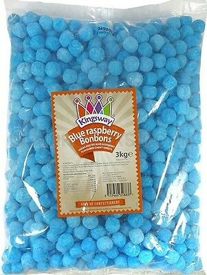 Kingsway Blue Raspberry Bonbons wholesale retro sweets chewy victorian jar