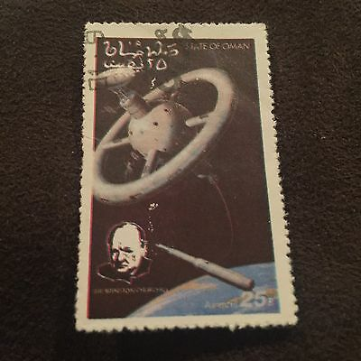 State Of Oman Space Stamp Winston Churchill