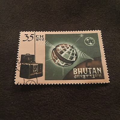 Bhutan Stamp 35CH Space Probe Space Ship