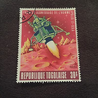 Republique Togolaise Stamp Apollo 11 USA Space Launch