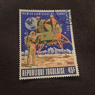 Republique Togolaise 45F Stamp Man On The Moon In Space