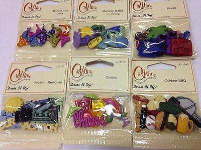 Dress It Up Embellishments Buttons Craft 3D card making Multi packs scrapbooking