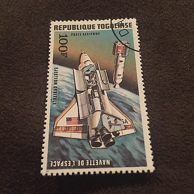 Republique Togolaise 100F Stamp Spaceship Space Prove USA