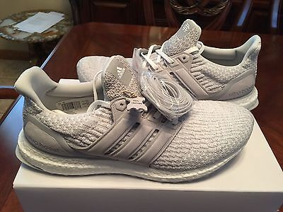 sports shoes c3fc2 74400 REIGNING CHAMP X ADIDAS ULTRA BOOST 3.0 - US Size 10-CLEAR GREY BW1116