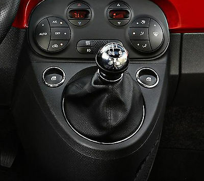 Genuine Leather Gear Shift Boot Gaiter Cover Sleeve fit FIAT 500 2007 ->