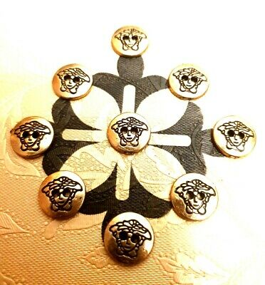 """0.9/"""" Velvet Fabric Covered Buttons Black /""""ENGLAND/"""" Metal color Silver size 23mm"""