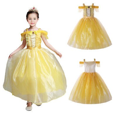 Girl Belle Princess Costume Beauty and the Beast Fairy Easter Party Fancy Dress