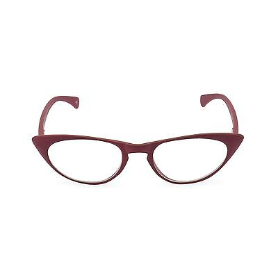 50s 60s Retro CAT EYE Vamp Red Peggy' as reading glasses,clear or reglaze