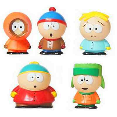 5pcs South Park Action Figure Figurines Toys Toppers Kyle Butters Stan Cartman