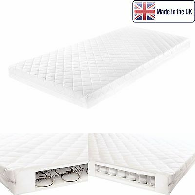 Essential Pocket Sprung Cotbed Mattress Foam Breathable Nursery Cot Mattress