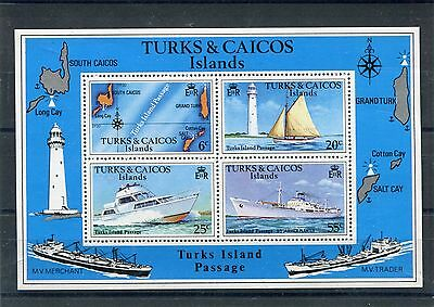 turks and caicos 1978 bf 9 battelli boats  mnh