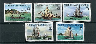 turks and caicos 1984 battelli boats 660-64 mnh