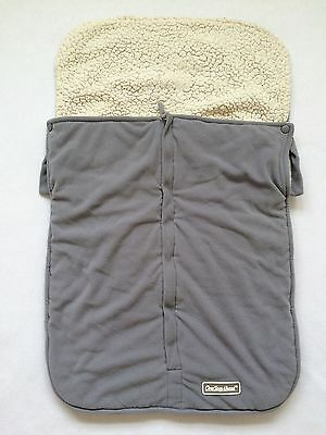 Gray Sherpa Lined Warm Stroller Cover Bunting Footmuff Blanket One Step Ahead