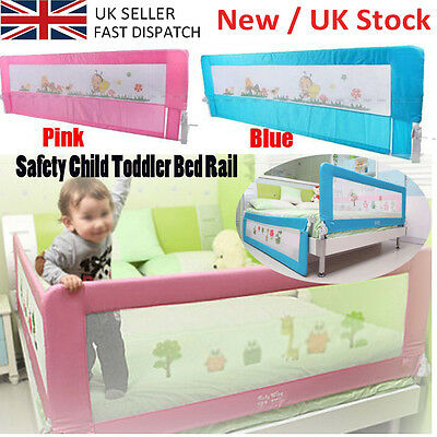 UK Quality 150/180cm Baby Child Toddler Bed Rail Safety Protection Guard 2 Color