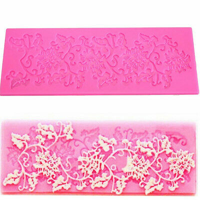 Quality Lace Silicone Fondant Baking Cake Sugar Craft Mould Decorating Mold BD