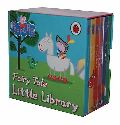 Peppa Pig-Fairy Tale-Little Library-Georges´s Dragon and other Mini Books-new