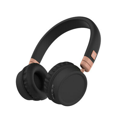Kitsound Harlem Bluetooth Wireless Over-Ear Headphones With Microphone