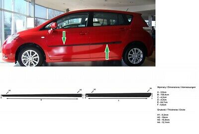 Moulding Side Protector Door Protection for Toyota Verso Van 2009-