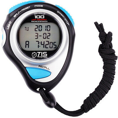 TIS Pro 234 100 Laps Stopwatch Three Row Large Display Count Down Timer Watch