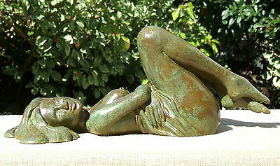 Nude Female Sculpture Playful Temptation