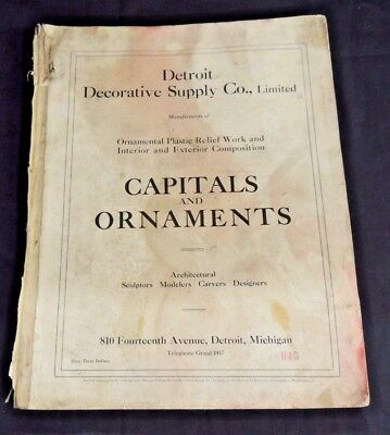 Vtg Detroit Decorative Supply Co Catalog Capitals Ornaments Architectural Design