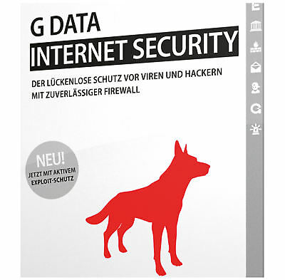 G DATA Internet Security *1-PC / 1-Jahr* DEUTSCH / GDATA 2018 / 2019 / KEY