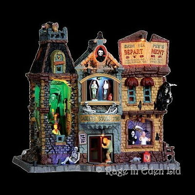 *GRIM REAPER'S DEPT STORE* Spooky Town Halloween Sight & Sounds By Lemax (21cm)