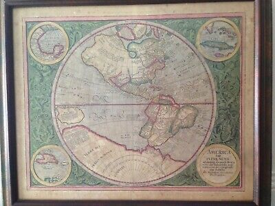 Mercator Map  of the Western Hemisphere ~ High Quality Reproduction ~