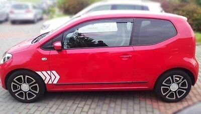 Moulding Side Protector Door Protection for VW UP Hatchback 3-doors 2012-