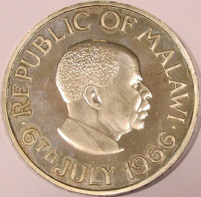 1966 Proof Malawi Crown - Day of the Republic - July 6, 1966 - KM# 5