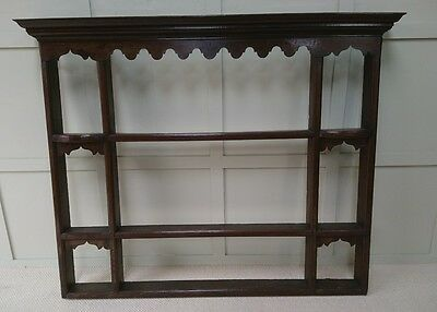 Georgian Oak Delft Plate Rack