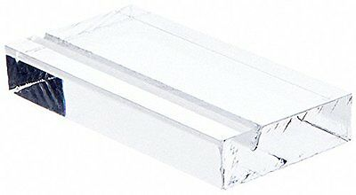 (Pack of 3) Plymor Brand Clear Acrylic Block with Sign Display Holder Slot *FS*