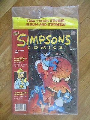 Simpsons Comics #42 (Uk) With Panini Album And Stickers Very Fine (A44)
