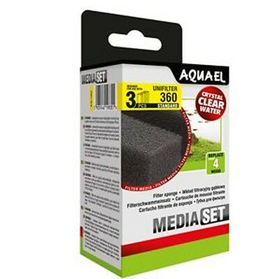 AQUAEL UNIFILTER 360 REPLACEMENT FILTER SPONGE FOAM MEDIA 3 Packs of 3 Pieces
