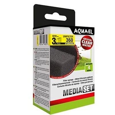 AQUARIUM TROPICAL FISH TANK REPLACEMENT SPONGE FOAM AQUAEL UNIFILTER 360 (1Pack)