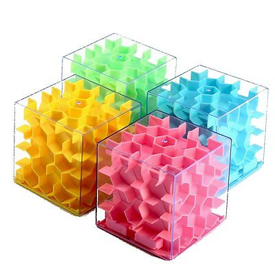 Honeycomb Maze Money Box Coin Cash Puzzle Save Piggy Bank Transparent Kids Gift