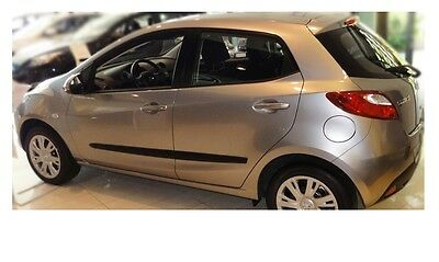 Moulding Side Protector Door Protection for Mazda 2 Hatchback 5-doors 2011-