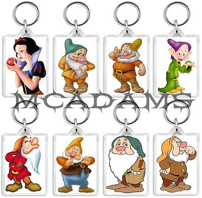 Snow White And The Seven Dwarfs DVD Inspired Select A Character Keyrings