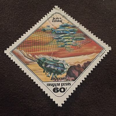Hungary Space Stamp 60f Futuristic Spaceship Magyar Posta