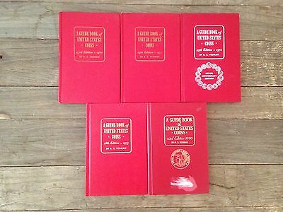 "Vintage - R. S. YEOMAN - A Guidebook to US Coins the ""Redbook""  -  5 Piece Lot"