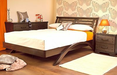 Lavish Sweet Dreams Gershwin Solid Wooden Bed Frame In Double & King Size