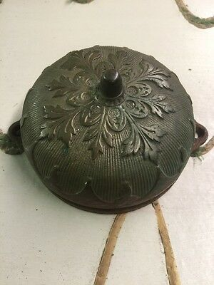 Real Deal Antique 1882 Bronze Or Brass Twist Door Bell Victorian Era One Of Kind